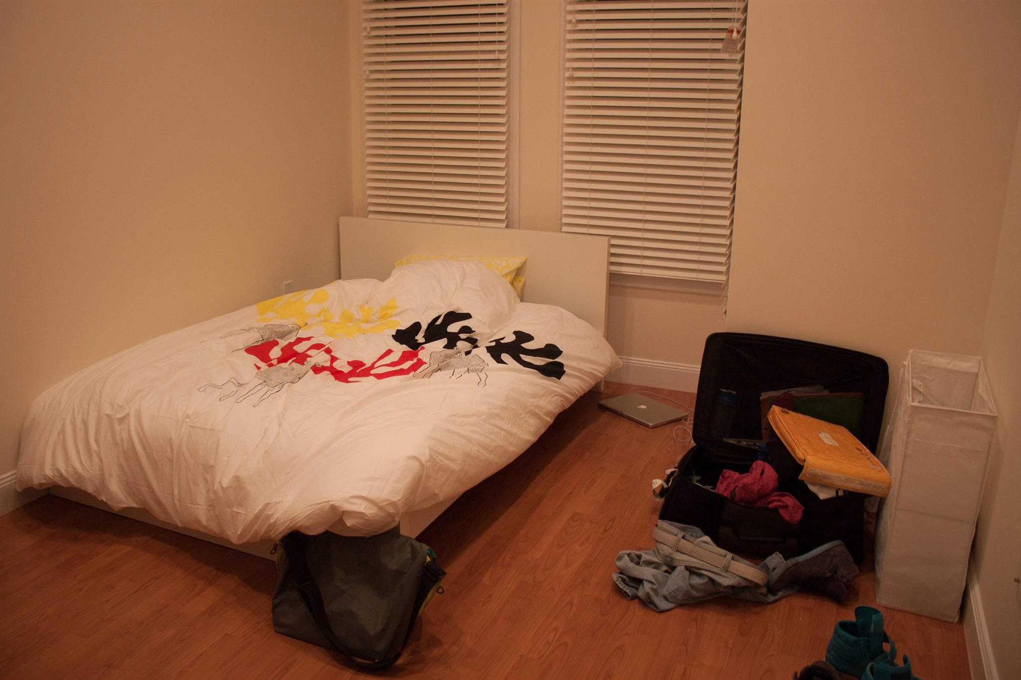 My rather bare bedroom